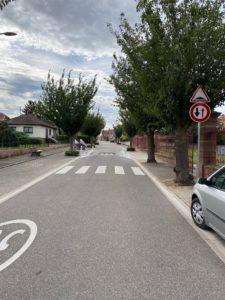 ralentisseur rue hangenbieten